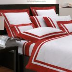 Red and White Contemporary Luxury Bedding