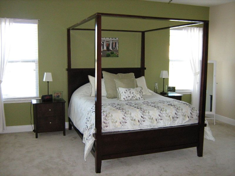Image of: Simple Contemporary Canopy Bed