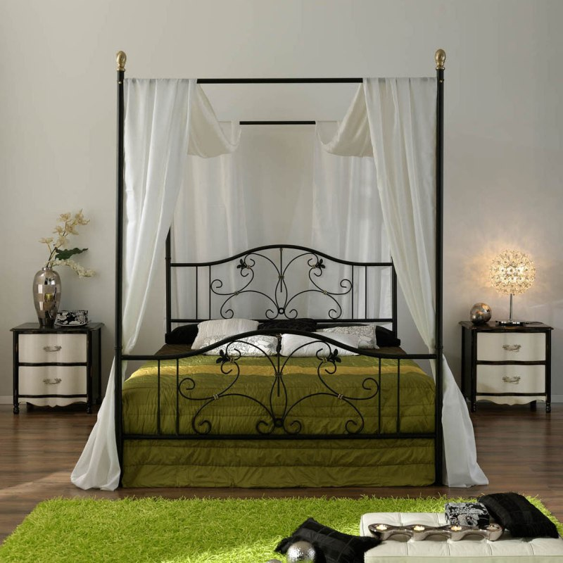 Image of: Stylish Contemporary Canopy Bed