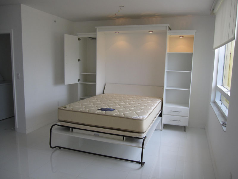 Image of: White Contemporary Murphy Beds