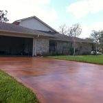Creative Stained Concrete Patio