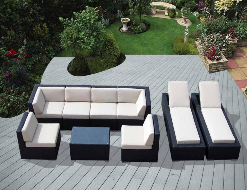 Image of: Deep Seating Sectional Patio Furniture