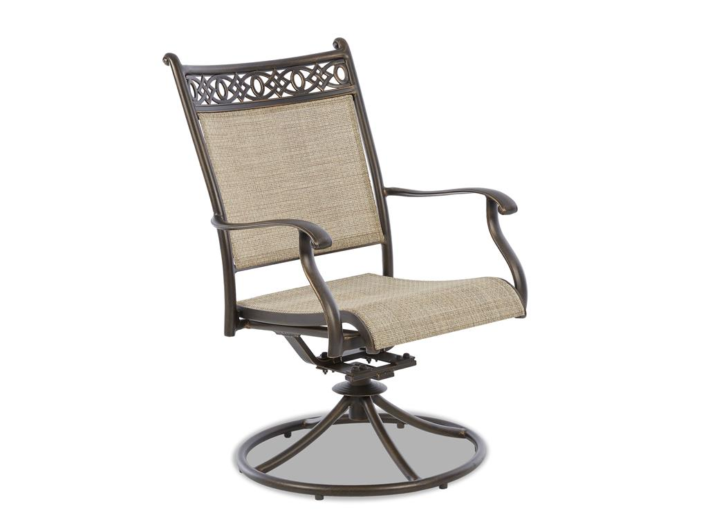 Image of: Elegant Swivel Patio Chair