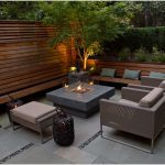 Modern Patio Furniture with Fire Pit