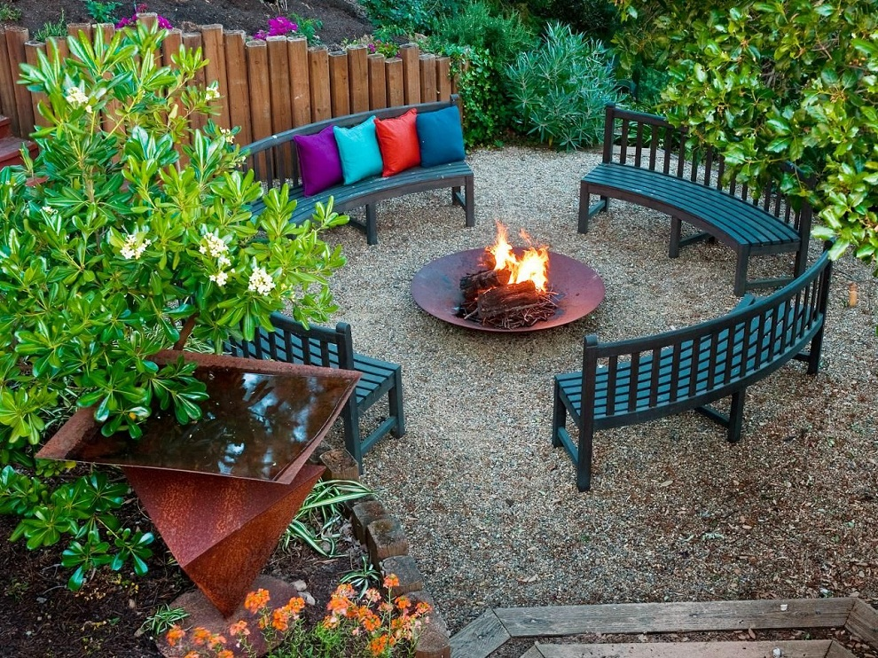 Image of: Patio Furniture with Fire Pit Designs