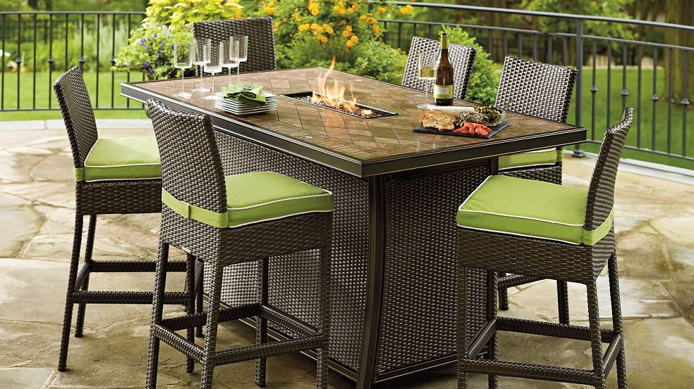 Image of: Patio Furniture with Fire Pit Table Dining
