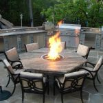 Patio Furniture with Fire Pit Table Set