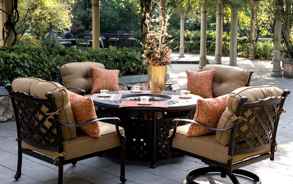 Image of: Patio Furniture with Fire Pit Table