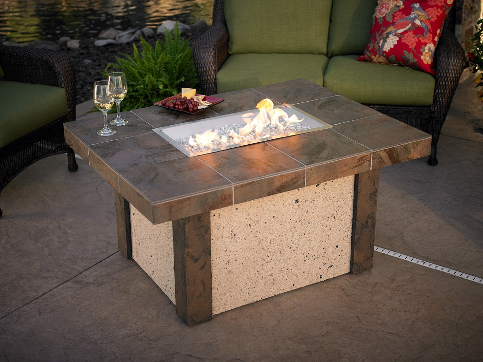 Image of: Patio Furniture with Fire Pit Type