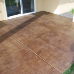 Perfect Stained Concrete Patio