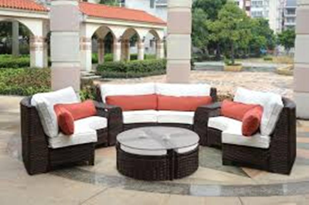 Image of: Sectional Patio Furniture Wicker