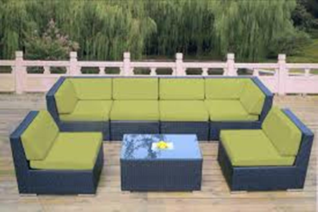 Image of: Sectional Patio Furniture with Sunbrella