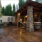 Stained Concrete Patio Plan