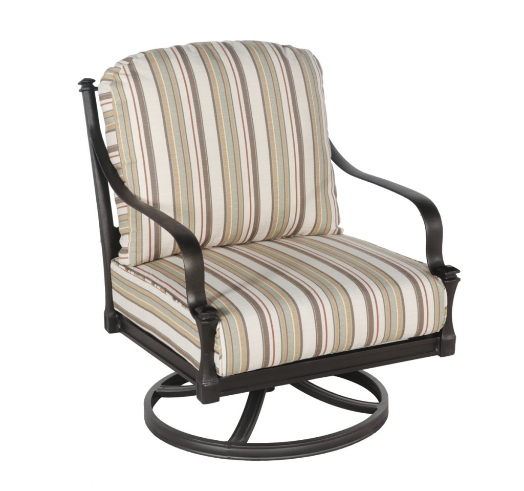 Image of: Swivel Patio Chair With Cushions