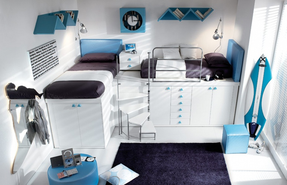 Image of: Attractive Loft Beds for Teens
