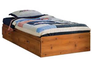 Image of: Big twin bed frame wood