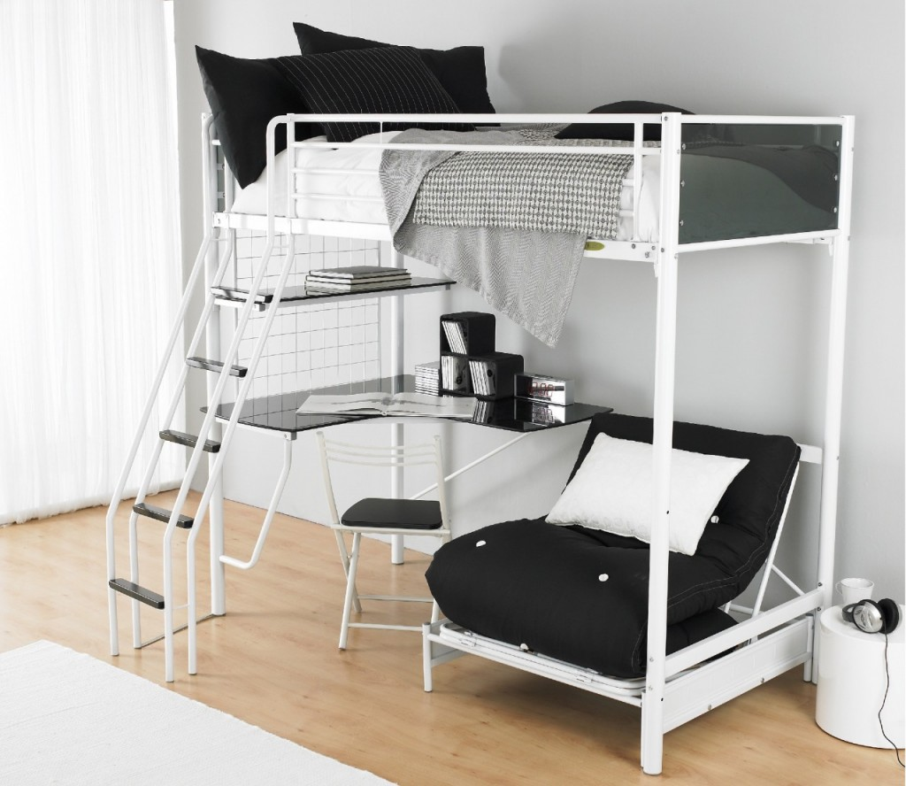 Image of: Bunk Beds for Teens with Desk