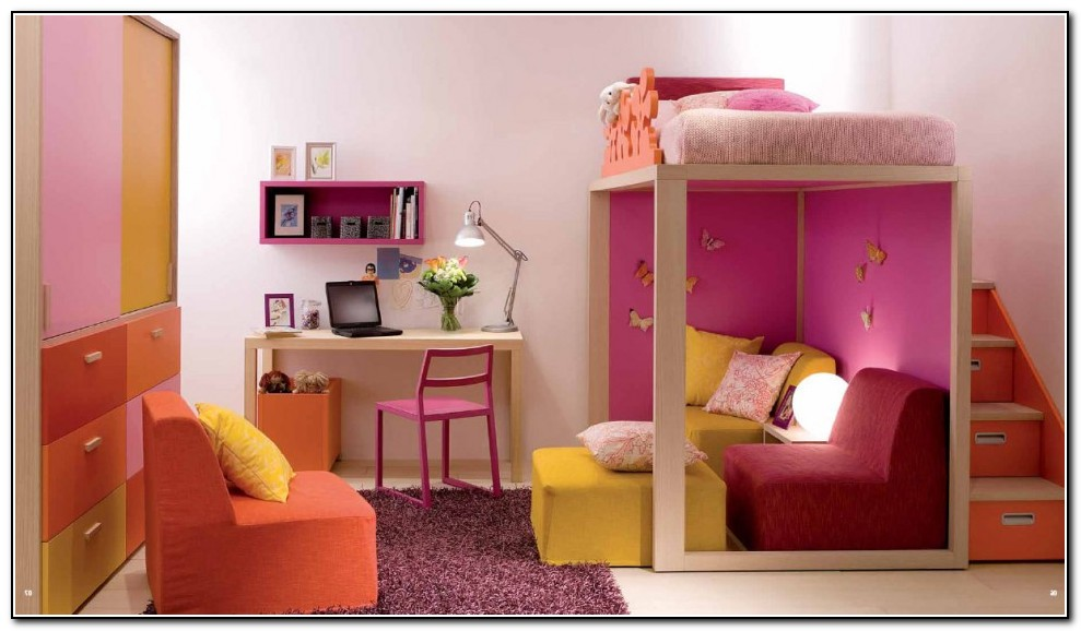 Image of: Colored Bunk Beds for Teens
