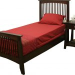 Dark twin bed frame wood
