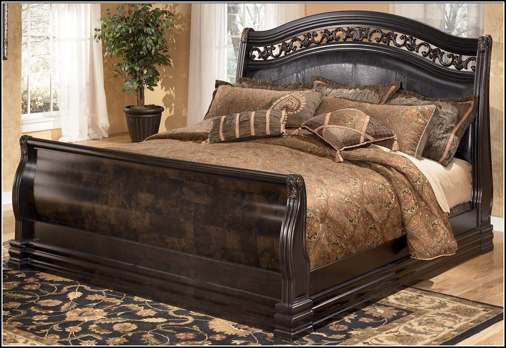 Decorative King Sleigh Bed