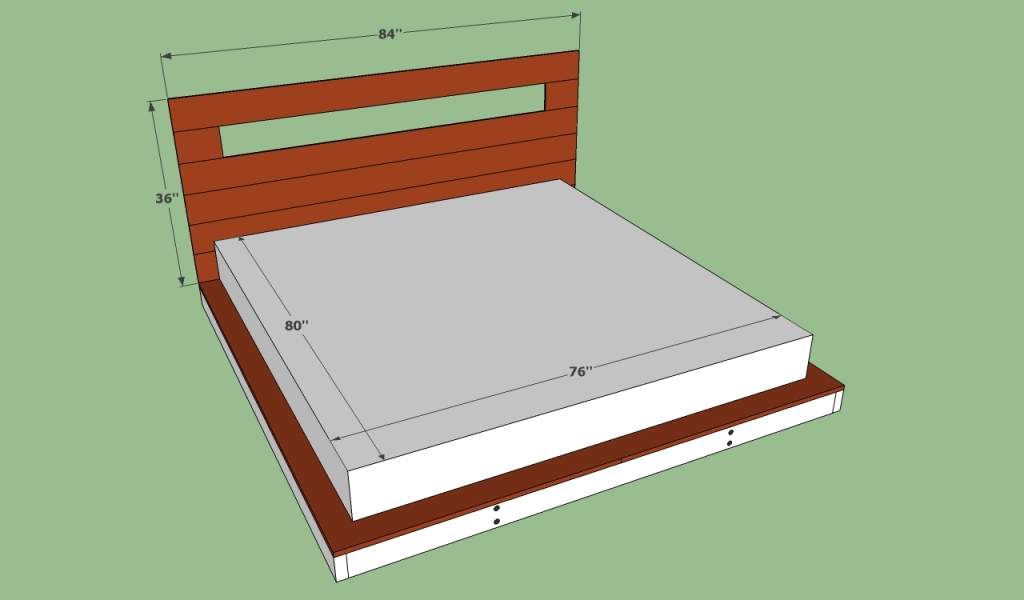 Image of: Double King Size Bed Frame Dimensions
