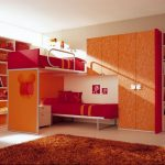Double Red Loft Beds for Teens