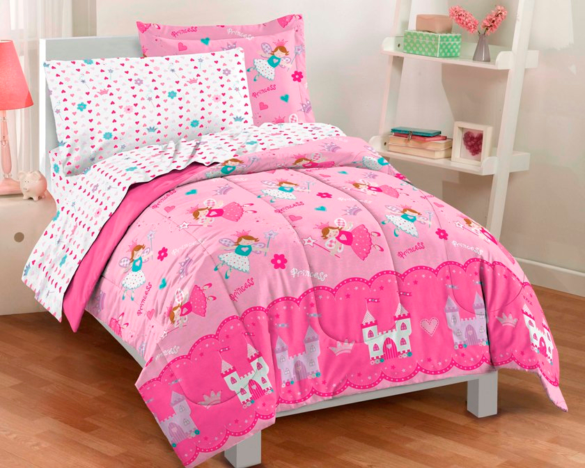 Image of: Girl Twin Bedding Pink