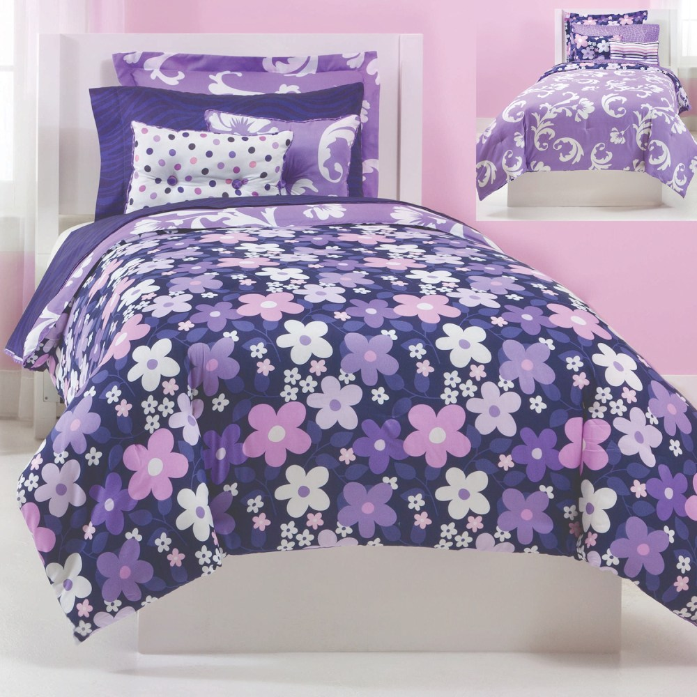 Image of: Grape Cute Teen Bedding
