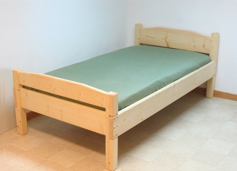 Image of: Ideas for twin bed frame wood