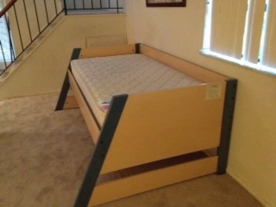 Image of: Image of twin bed frame wood