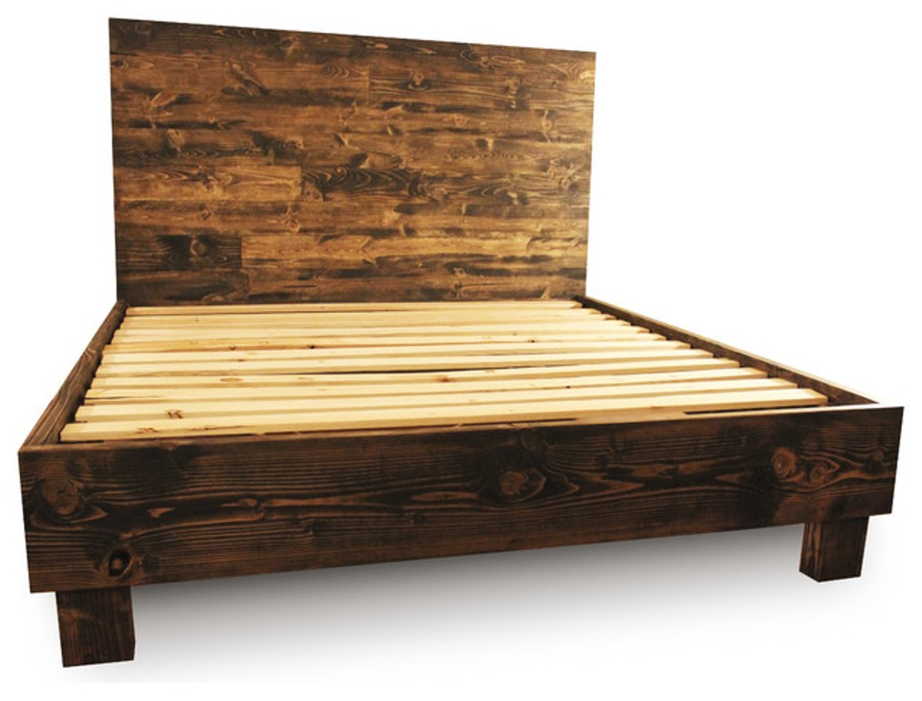 Image of: King Size Bed Frame Dimensions Queen Size