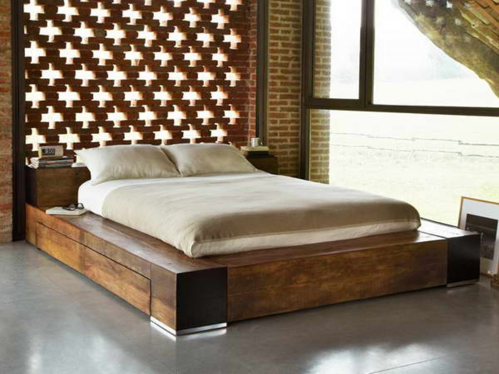 Image of: King Size Bed Frames Dimension for Queen
