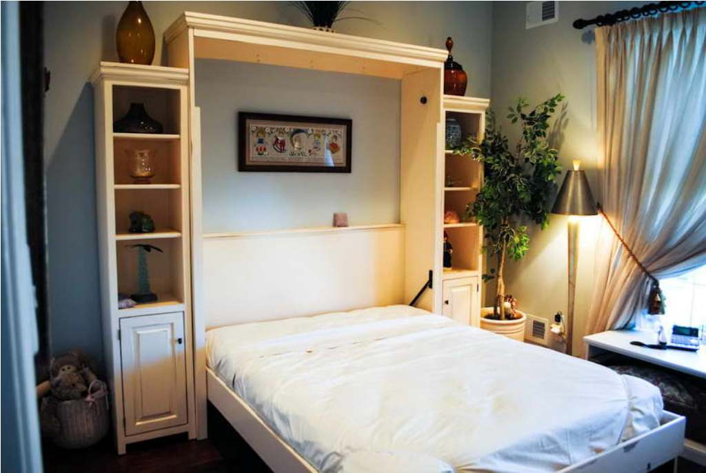 Image of: King Size Murphy Bed Desk Combo