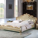 King Sized Bed Gold