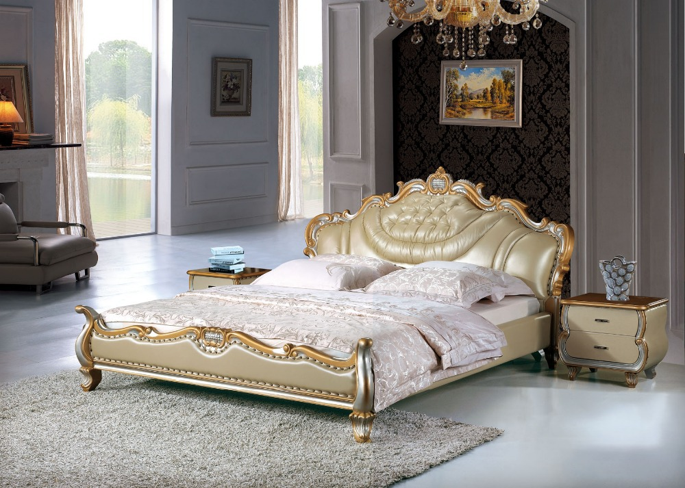 Image of: King Sized Bed Gold