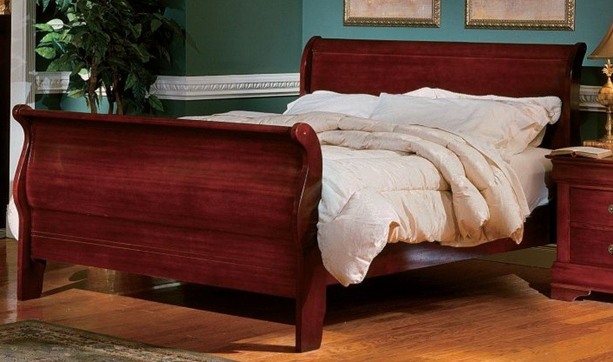 Image of: King Sleigh Bed Color