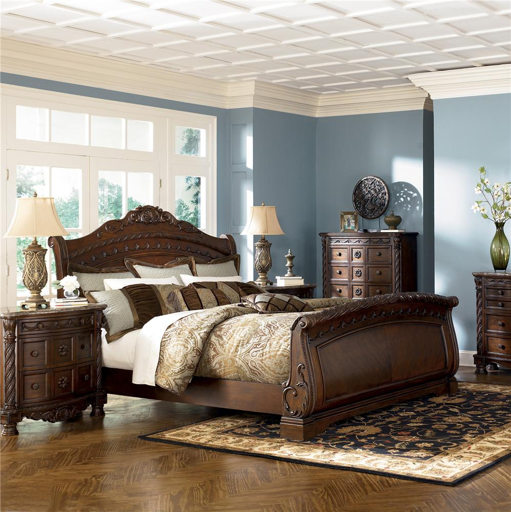 Image of: King Sleigh Bed Furniture