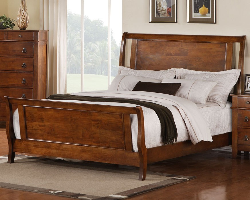 Image of: King Sleigh Bed Images