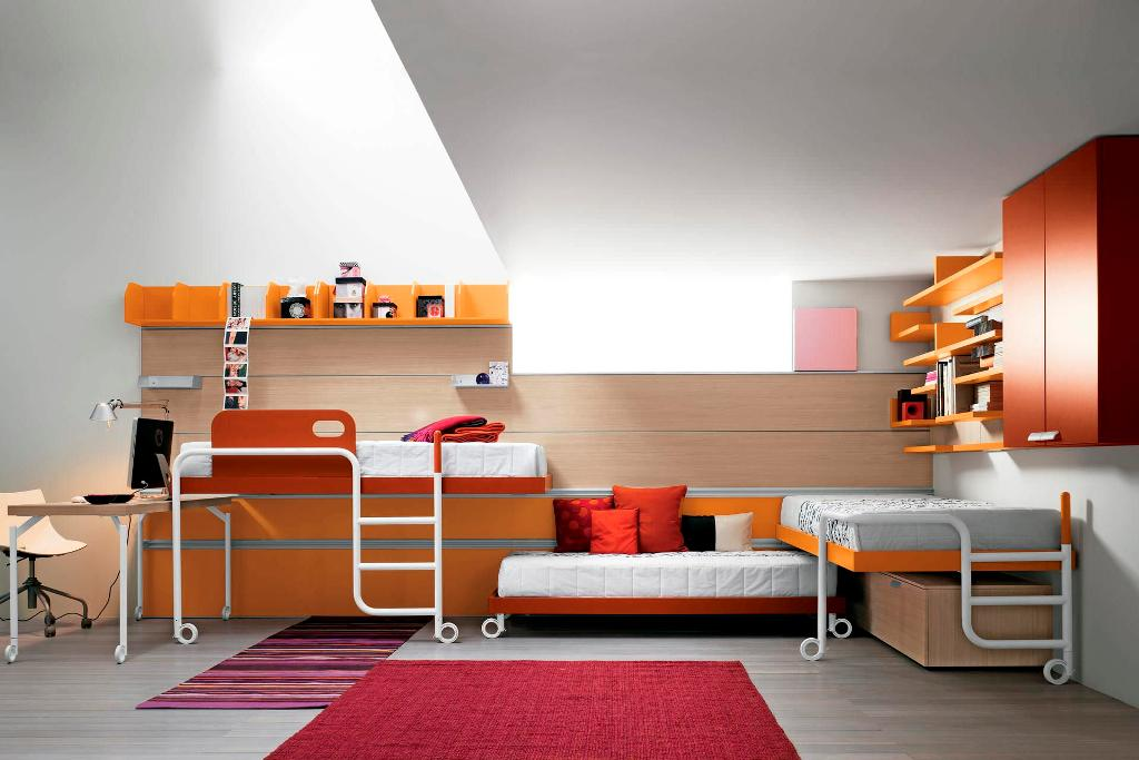 Image of: Modern Cool Teen Beds