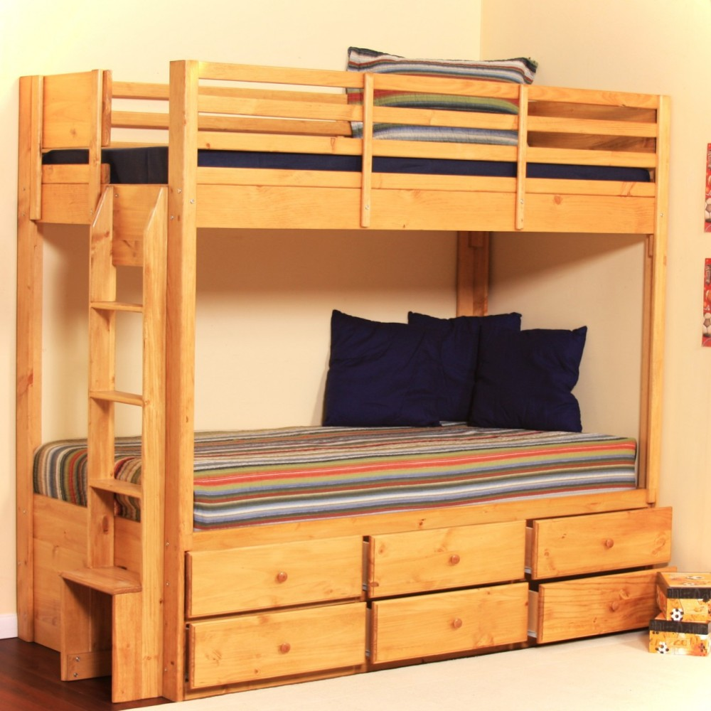 Image of: Original Twin Bed with Storage Drawers