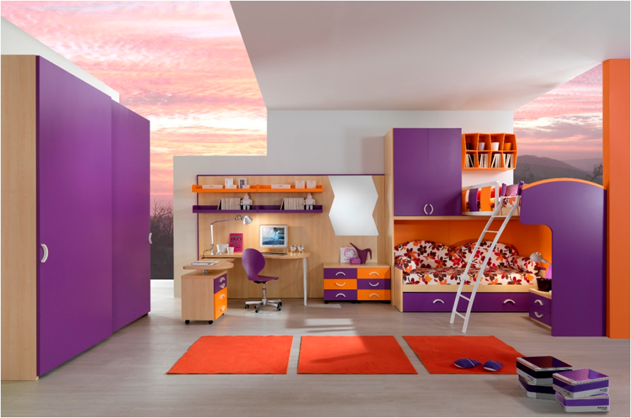 Image of: Paint Bunk Beds for Teens