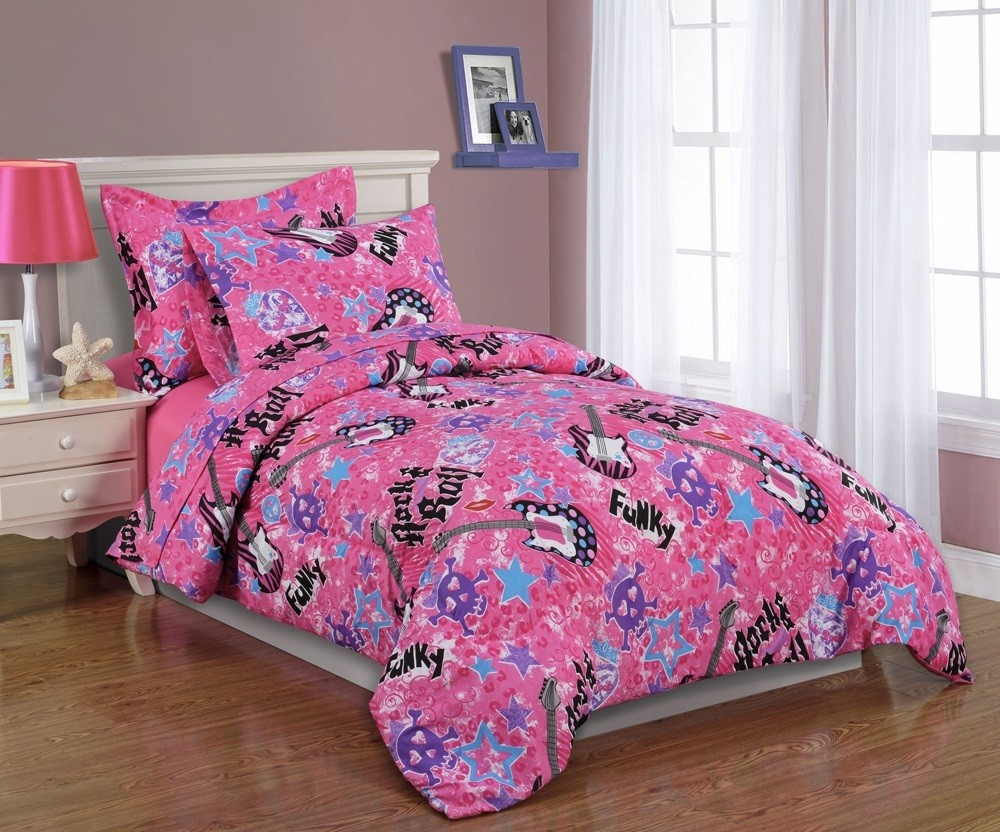 Image of: Pink Twin Bed Comforter Sets