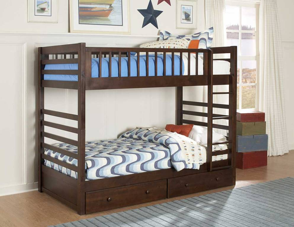 Image of: Popular Twin Bed with Storage Drawers