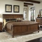Rustic Sleigh Bed King