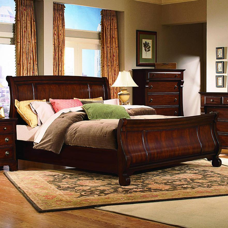 Image of: Sleigh Bed King Furniture
