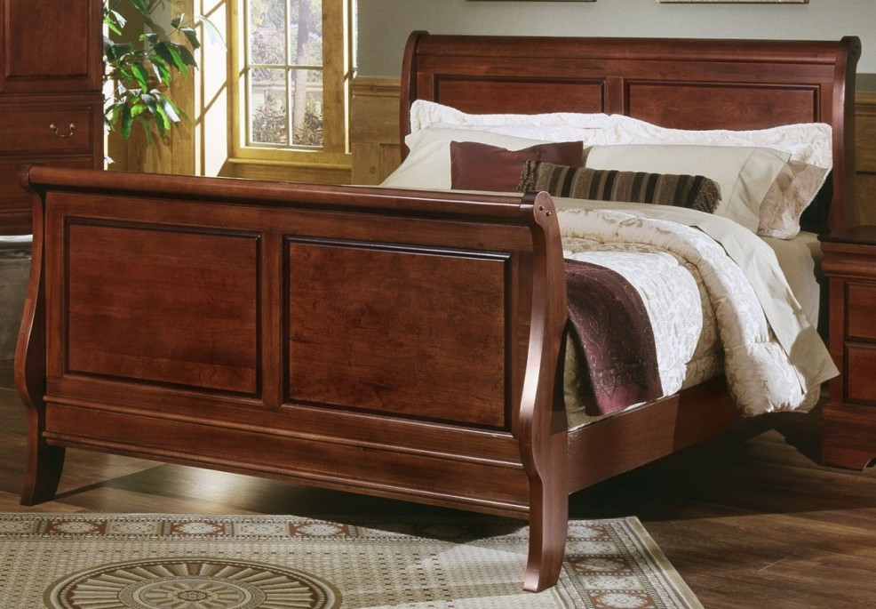 Image of: Sleigh Bed King Ideas