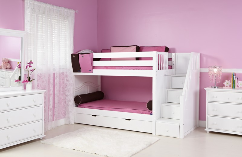 Image of: Staircase Bunk Beds for Teens
