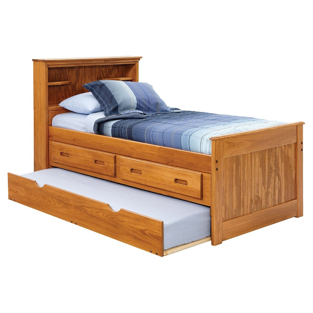 Image of: Top Twin Bed with Storage Drawers