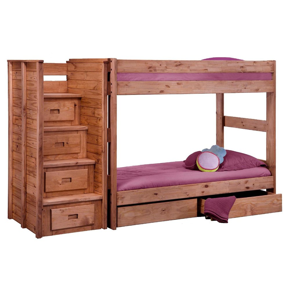 Image of: Traditional Twin Bed with Storage Drawers