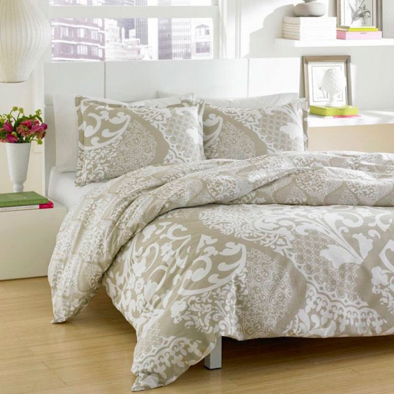 Image of: Twin Bed Comforter Sets White